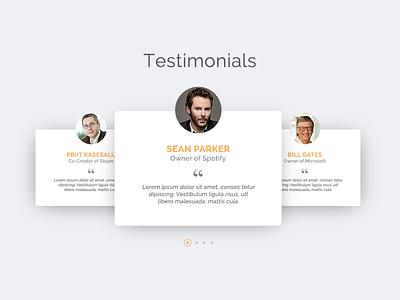 DailyUI #039 - Testimonials slider web webdesign users testimonials ux ui dailyui