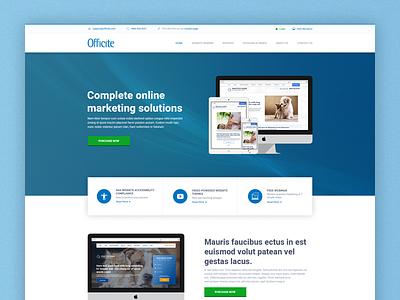 Officite Redesign landing page ui ux webdesign redesign web design