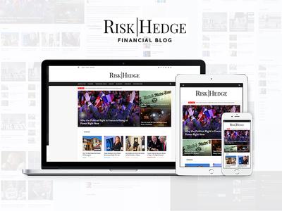 Riskhedge - Finance news and analysis information investment finance blog ui web web design