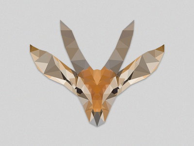 Low poly Antelope exercise portrait poly animal illustration low poly