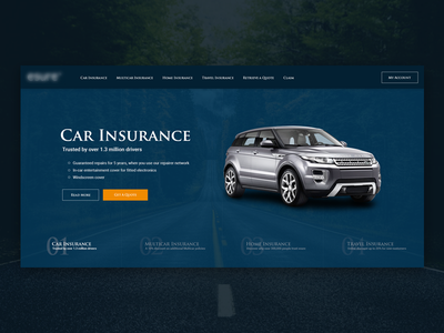 Redesign project - hero part web design web hero landing page landing insurance ui ux
