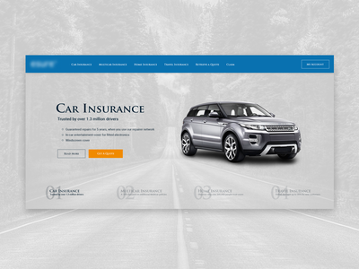 Redesign project - hero part white version landing page design web ux ui landing insurance hero