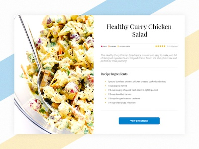 DailyUI #040 - Recipe recipe cooking daily 100 application webdesign web design uidesign ui dailyui