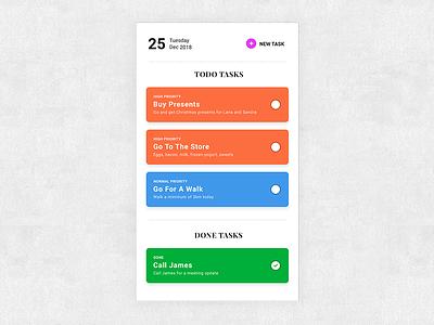DailyUI #41 Simple ToDo List todo app todolist app mobile userinterface uidesign application ui ux dailyui