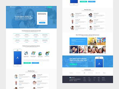 Heydoctor.co web landing page healthcare health design webdesign web design ux ui ux web ui design