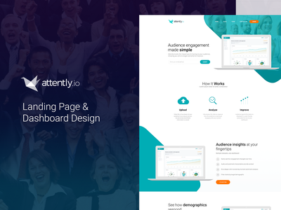 Attently landing page concepts web design landing app landing page webdesign web design userinterface uidesign application ux ui