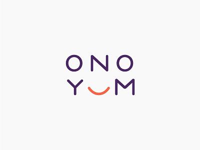 Ono Yum logo identity smile food sushi musubi