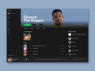 Spotify Dashboard Concept