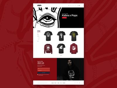 Kabra Landing page - Desktop