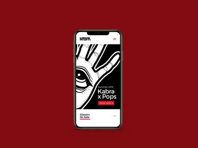 Kabra Landing Page - Mobile