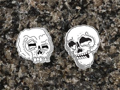 Skull Stickers - Mockup