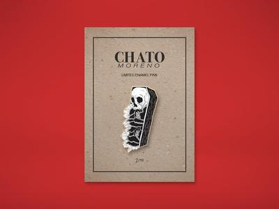 Chato Moreno Pin - Mockup