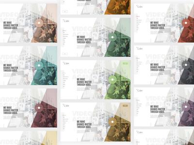 Delack Color Exploration earthy screens color exploration color palette layout exploration video imagery grid layout interface mockup ux web design grid ui