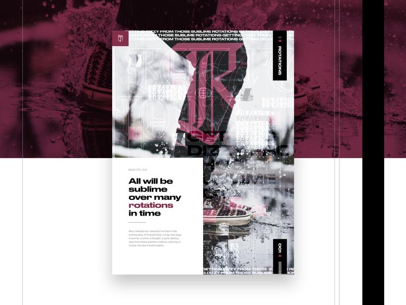 001 Rotations imagery design series graphic exploration grid layout grid mockup web design visual identity maroon purple rotations poster design poster art visual design