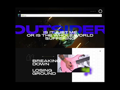 Visual Music UI 2 interaction design visual design music art music video music player ui music music app video typography photoshop layout exploration imagery grid layout interface web design grid ui