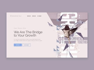 Sparrow Tale Style Tiles style tile art direction light agency website typography layout exploration imagery grid layout interface mockup ux web design grid ui