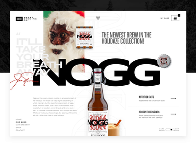 NOGG - Mock The Halls 2020 concept design layout exploration imagery video interactive design typography ui design web design beer branding package design brand identity product design holiday design christmas mockthehalls2020 mockthehalls