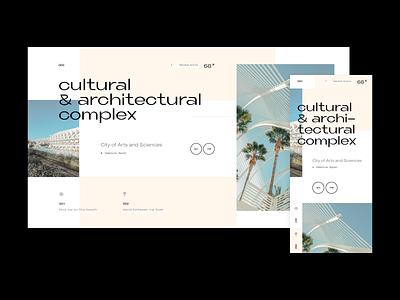 Exercise: Travel Concept app mobile exotic location world travel design interface grid layout ux mockup web design ui grid