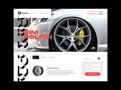 Hang Loose Detailing - Service Detail page typography detailing exotic cars sportscar sports interface grid layout mockup ux web design ui grid