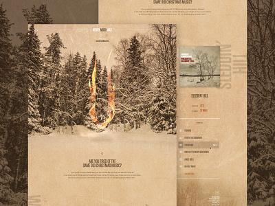 MERRY MOSHMAS music mosh photoshop sketch interface web design mockup ui christmas mock the halls