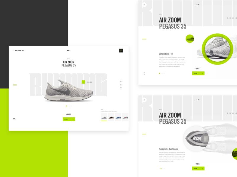 Nike Desktop Concept product page ecommerce design nike air max mobile to desktop responsive website design sketch app daily ui interface web design mockup ux grid ui