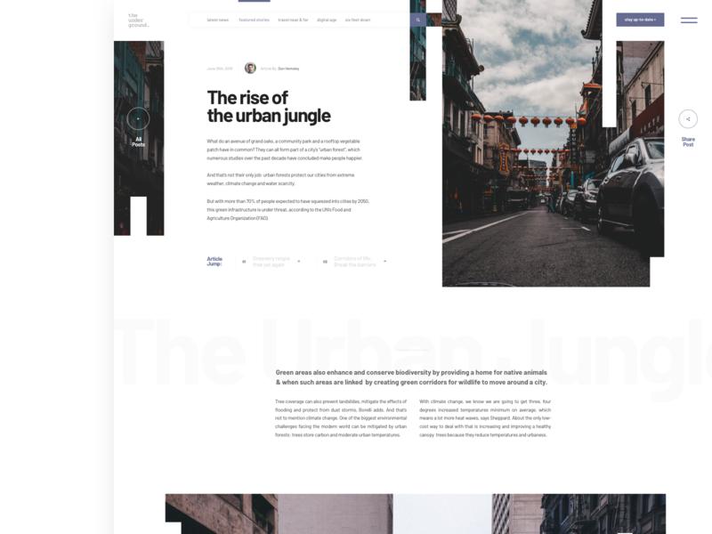 Article Layout 2 whitespace web layouts ui  ux typography newsletter newsfeed minimalistic magazine layout exploration grid layout blog post blog design