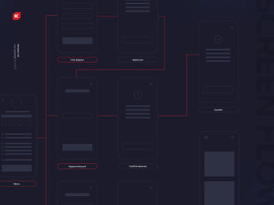 K Casino Concept - Screen Flow