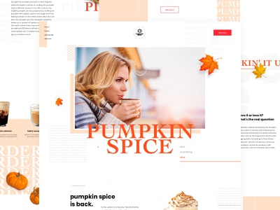 Pumpkin Spice Mocktober 2019 grid exploration mockup design grid layout layout ui  ux grid web design layout design pumpkin spice fall colors mocktober