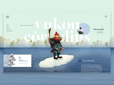 Yukon Cornelius - MTH 2019 video hero banner christmas motiongraphics layout design grid web design mockthehalls