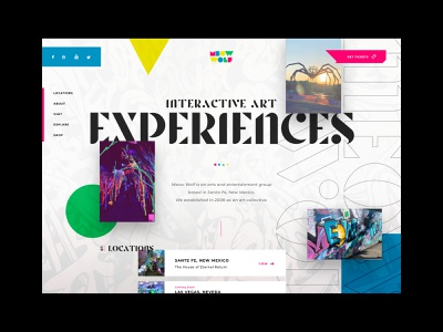 Honeymoon - 04 Meow Wolf ui  ux webdesign website design typogaphy colorscheme road trip scroll animation grid layout layout exploration interactive art interactive media art installation meow wolf