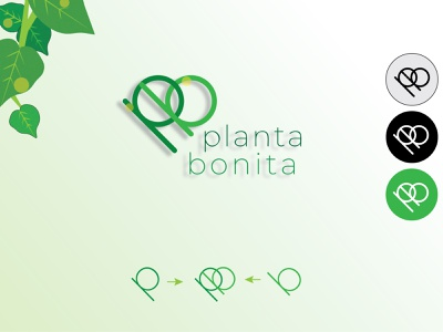 Minimal Logo: Planta Bonita custom logo plants green modern logo minimalist logo branding clean vector design logo
