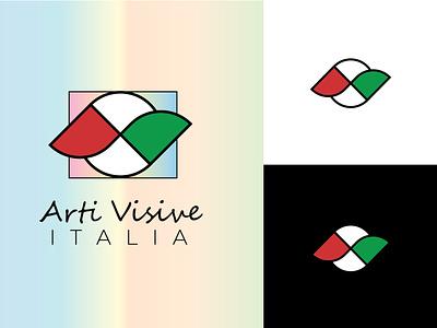 Logo: Arti Visive Italia artistic logo flat logo minimalist logo italy arti visive branding custom logo vector logo design
