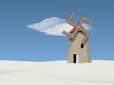Inktober challegne day 7: Fan minimal graphic design tower fan illustration vector design