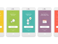 Modmom app onboarding screens