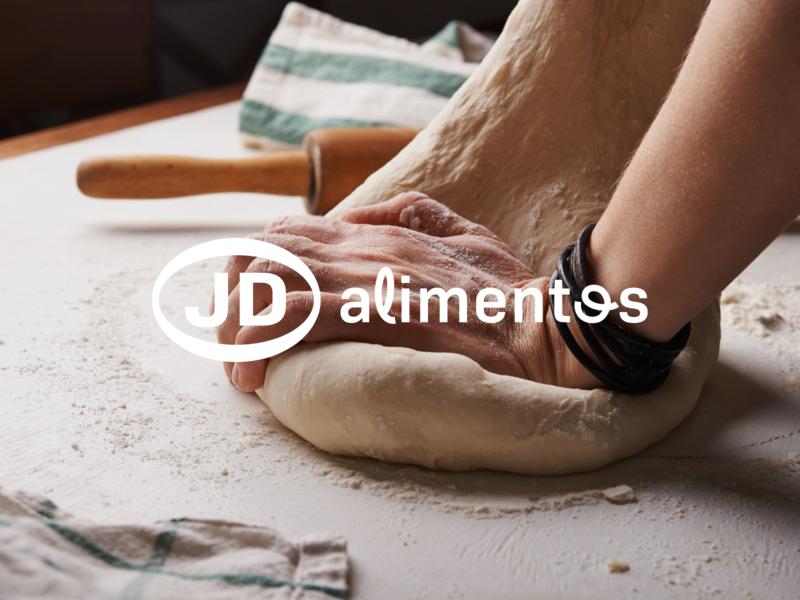 Logo for JD Alimentos flat modern web icon branding typography design logo minimal