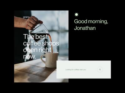Grano explorations visual design visual logo typography modern design app product minimal ui