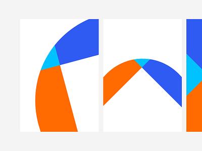 Compositions orange blue movement shapes colors composition visual health startup branding startup ui