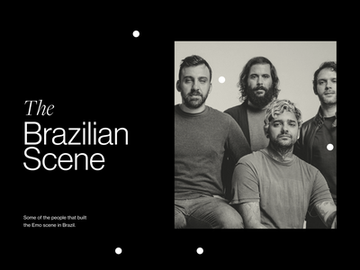 The brazilian scene hateen dance of days display fresno website flat app icon typography modern study design minimal ui