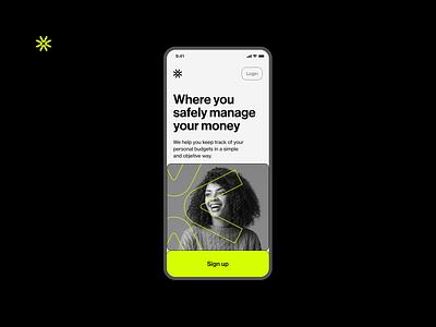 Budget manager app [Concept] wallet money finances fintech tech flat modern app product design minimal ui