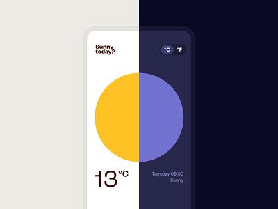 Weather app weather modern app product design minimal ui