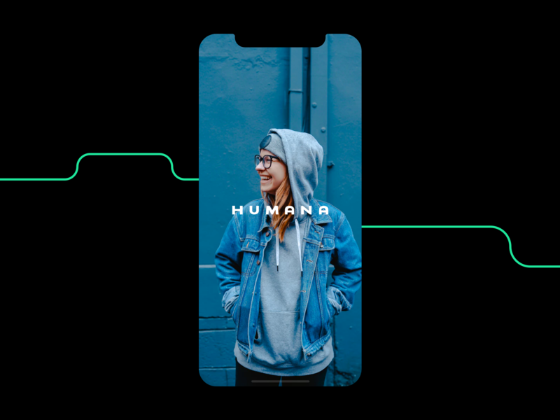 Humana typography girl logo vectorial design product vector modern graphic branding minimal