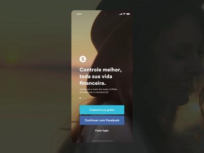Concept login screen
