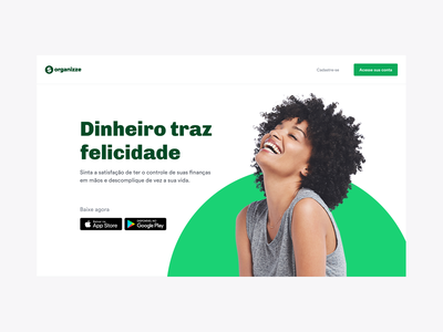 Organizze Website ui design branding visual finances fintech app product ux ui