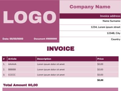 Work Invoice Template illustration design newspaper template newspapers newspaper ad typography newspaper google docs free template
