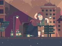 Decor Homeless Night