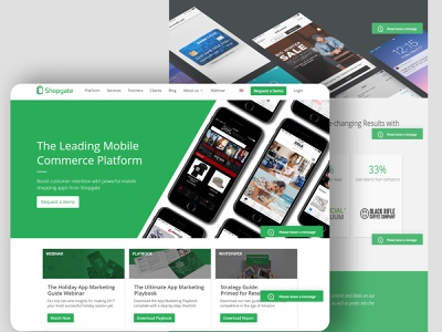 Shopgate success marketing innovation business technology typography ui vector graphic design design