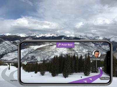 Friend Finder in the outdoor through AR