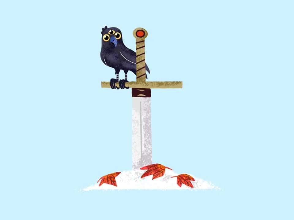 GOT 🐦🗡👁 got gameofthrones raven adobe bird doodle cartoon procreate design illustration digitalart art