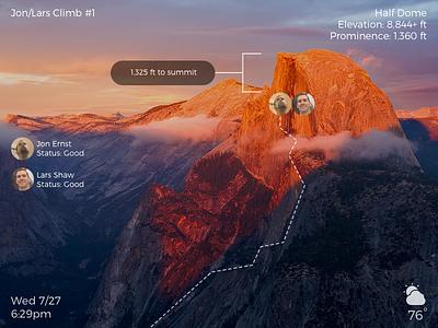 DailyUI - #073 - Virtual Reality yosemite rock climbing half dome 073 dailyui