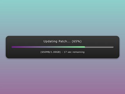 DailyUI - #086 - Progress Bar update progress bar 086 dailyui